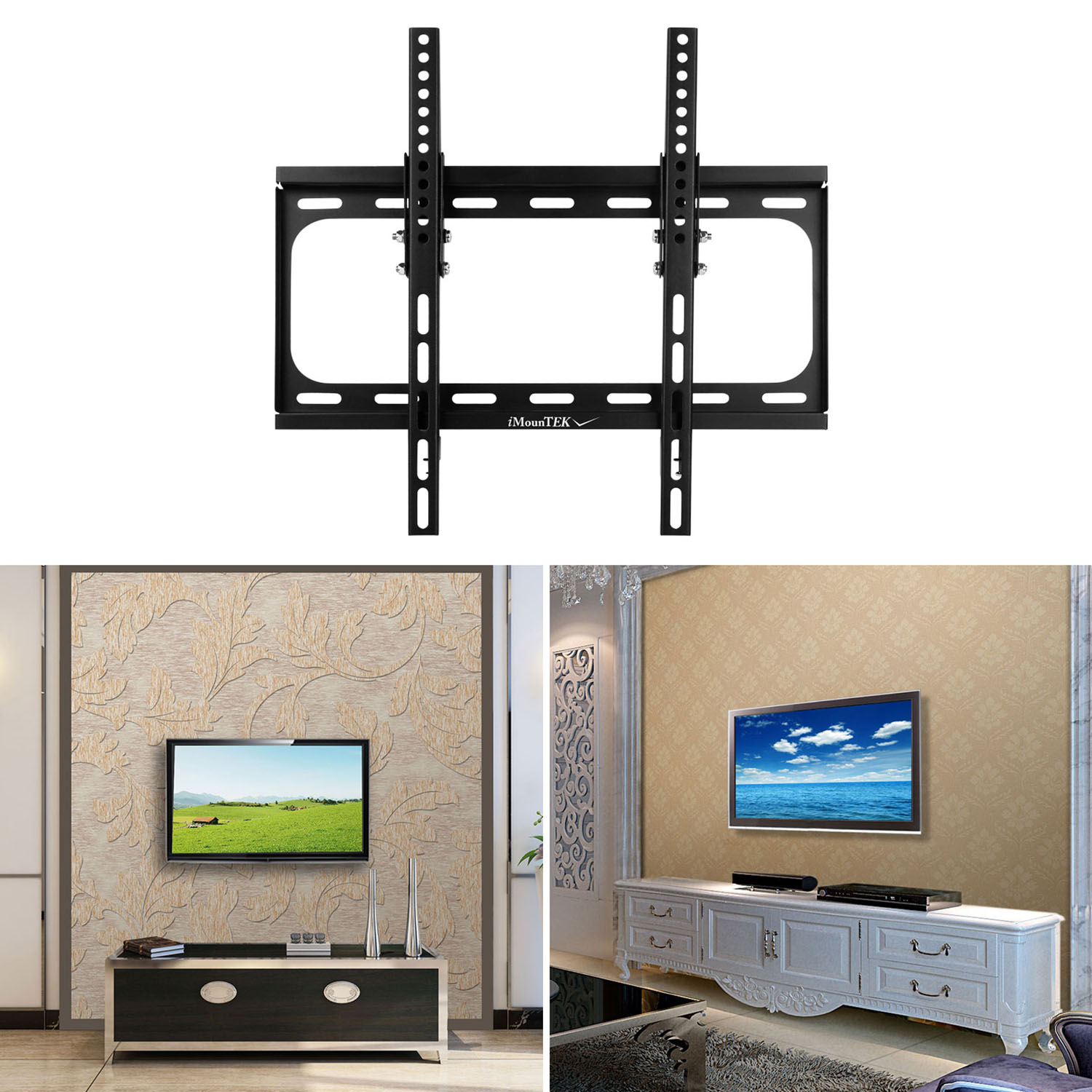 "iMounTEK Tilting TV Wall Mount Bracket For 32"" TO 55"" LED/LCD/OLED/Plasma Flat Screen TV. Full Motion Articulating Dual Arms, 88 LBS Hold- Sony/LG/Samsung/Panasonic/Vizio/Toshiba"