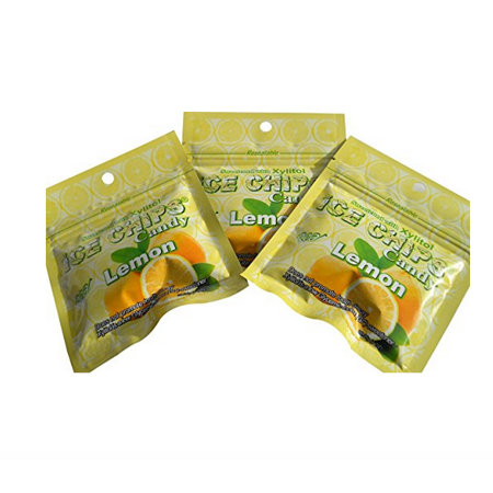 New! Ice Chips Candy in Resealable Packets, Lemon 3 Pack (New Candy)