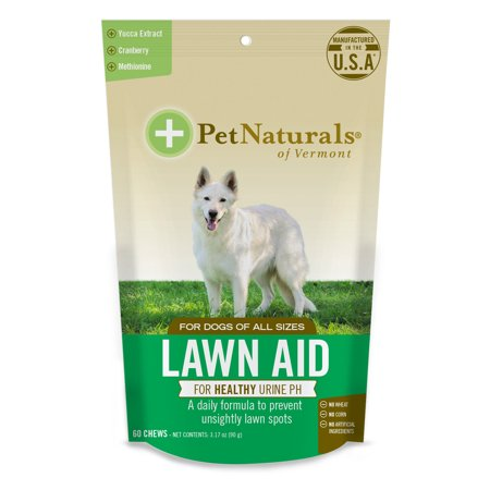 Pet Naturals of Vermont Lawn Aid, Urine Balance Supplement for Dogs, 60 Bite-Sized (Getting Rid Of Dog Urine Smell On Wood)
