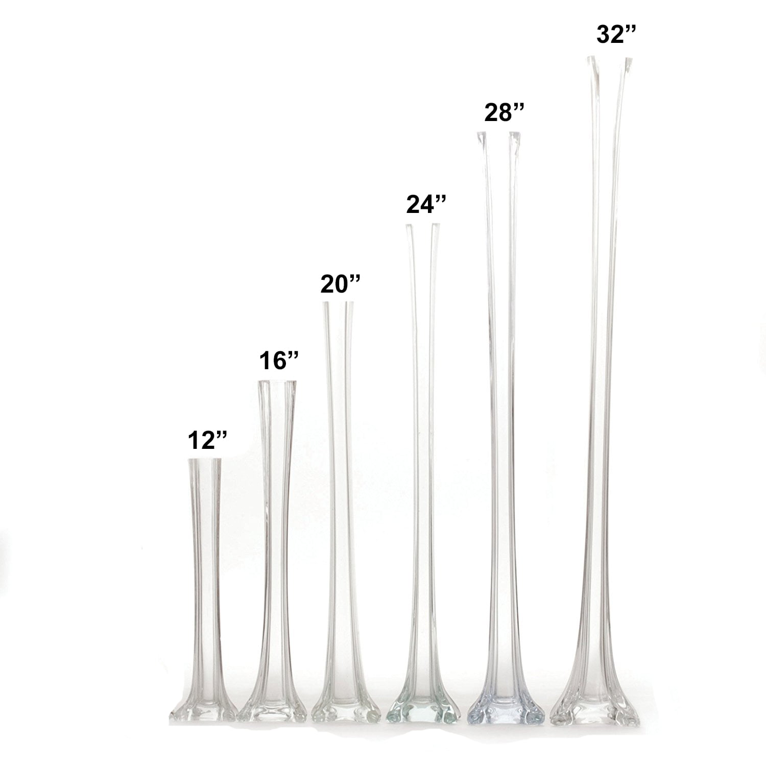 "12 Home Decor Gift Ideas From Walmart: Set Of 12 Pieces 12"" Inches Tall Glass Eiffel Tower Vases"