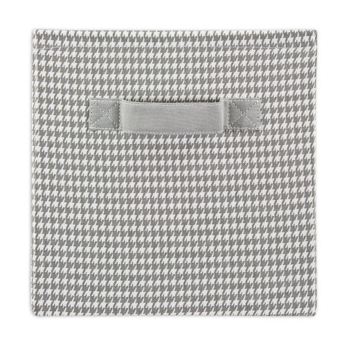 Brite Ideas Living Houndstooth Storm/Twill Storage Bin with Handle