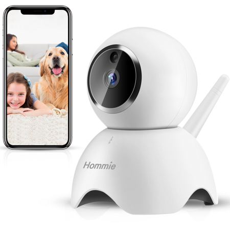 Hommie Wireless IP Camera 1080P HD WiFi  Indoor Security Camera with Night Vision,Two-way Audio,Motion