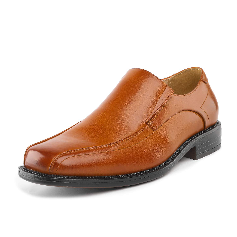 Bruno Marc Mens Goldman-02 Black Leather Lined Square Toe Dress Loafers Shoes Size 9.5 US// 8.5 UK