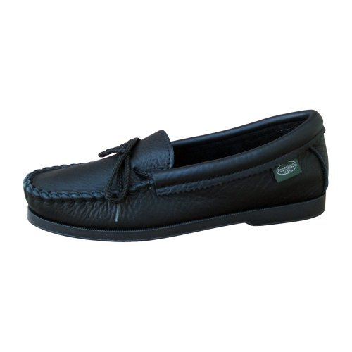Footskins Womens Cowhide Slip-on Moccasin - Black
