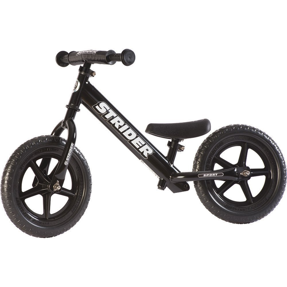 STRIDER 12 Sport Balance Bike, Black