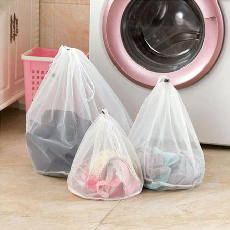 3Pcs Laundry Bags Set, Outgeek Drawstring Mesh Laundry Bags Laundry Wash Bag Laundry Bags for Washing Underwear