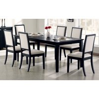 Coaster Company Louise Transitional Rectangular Dining Table, Black
