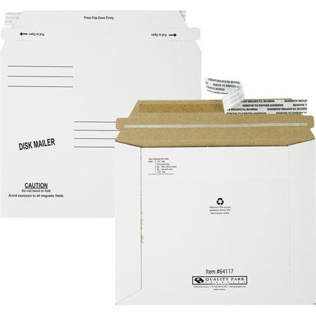 Quality Park, QUA64117, Economy Disk/CD Mailers, 100 / Carton, White ()