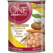 Purina ONE SmartBlend Classic Ground Chicken & Brown Rice Entree Adult Dog Food 13 oz. Can