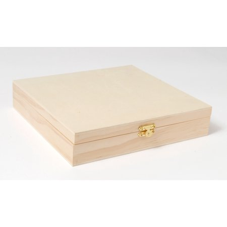 Plaid Wood Surfaces, Hinged Cigar Box, size: 8.38