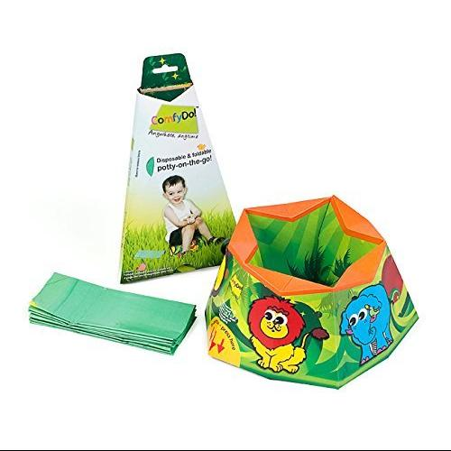 ComfyDo Disposable and Foldable Travel Potty Training, Jungle Fun