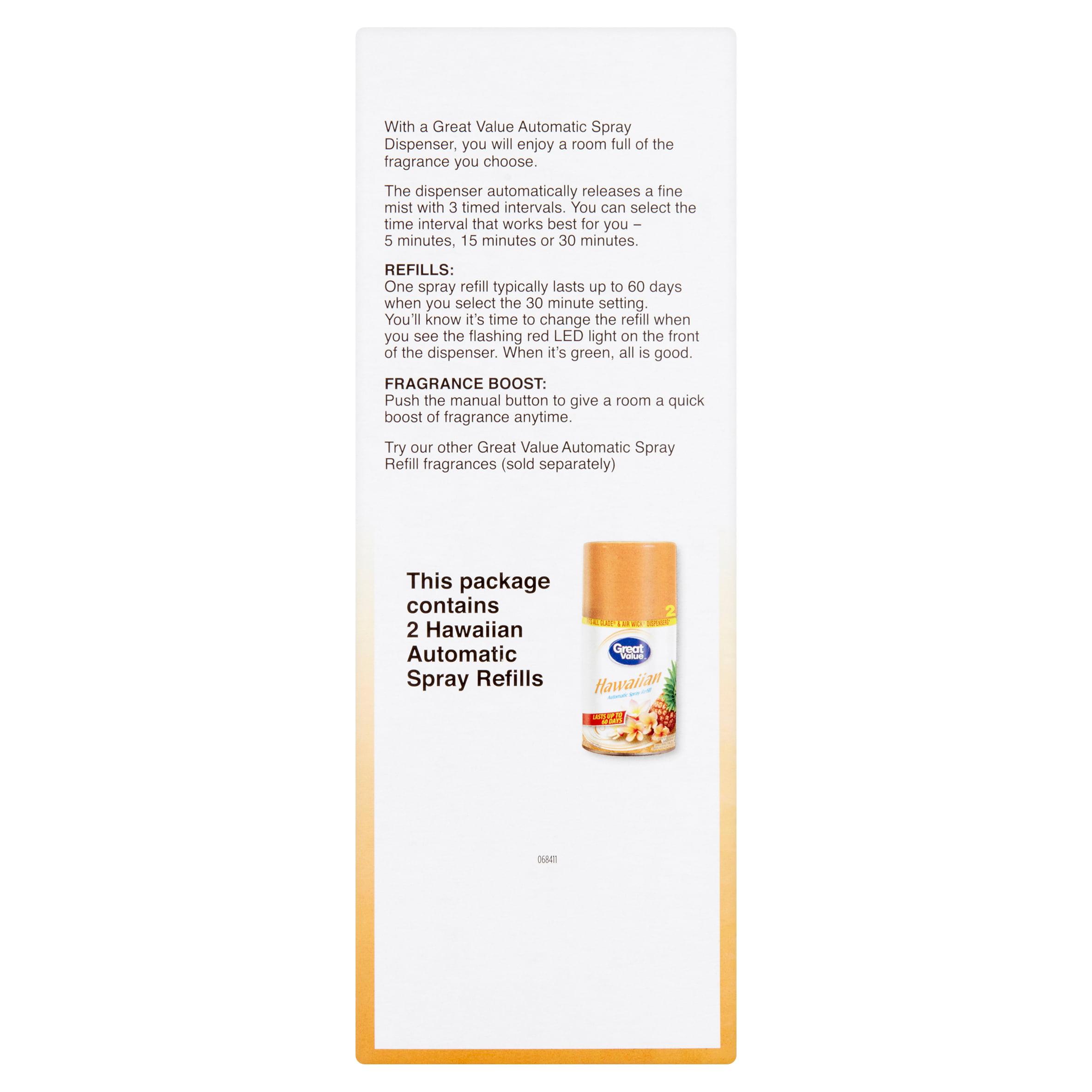 Great Value Hawaiian Automatic Spray Kit Twin Pack - Walmart com
