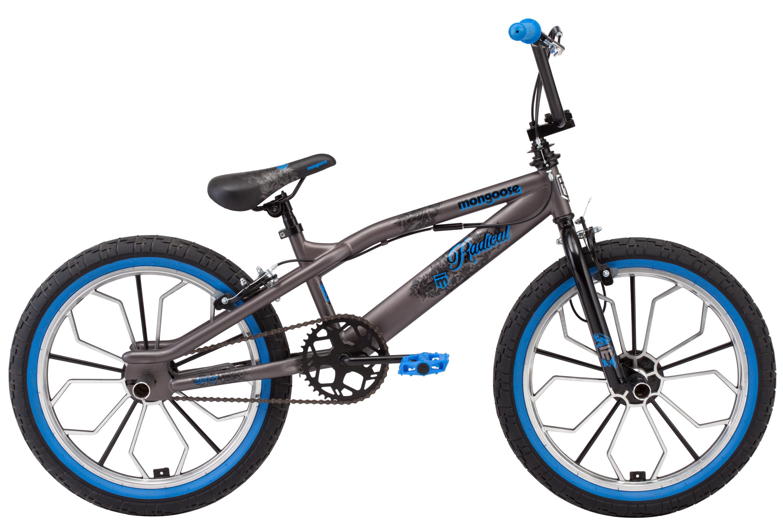 Mongoose Radical kids BMX bike, 20-inch Mag wheel, Boys, Grey by Pacific Cycle