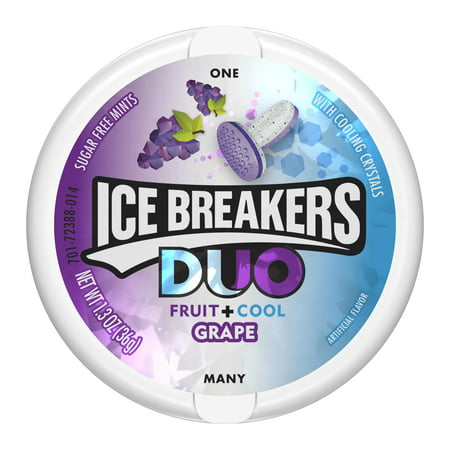 953760327e Ice Breakers Duo, Grape Flavored Mints, 1.3 Oz - Walmart.com