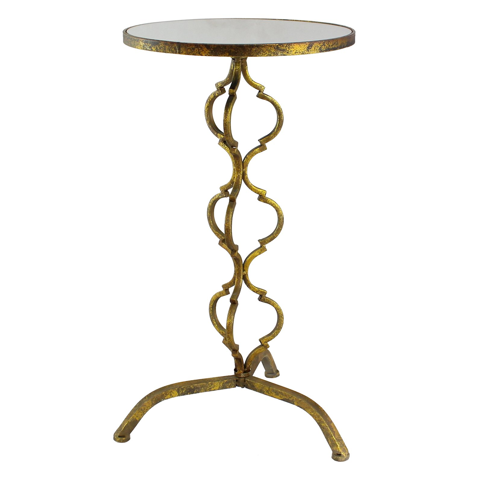 Aspire Home Accents Myra Gold Metal Accent Table by Aspire Home Accents