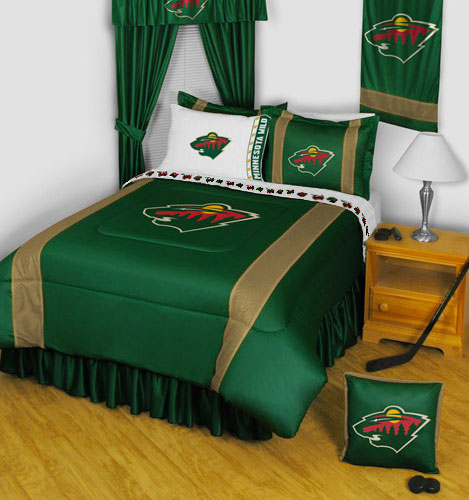 NHL Minnesota Wild Comforter Pillowcase Hockey Bedding