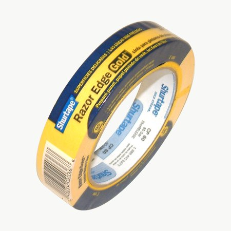 SHURTAPE Masking Tape,Paper,Yellow,24mm CP 60