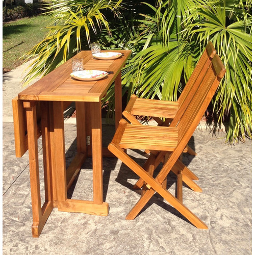 Chic Teak Hatteras Folding Dining Table by