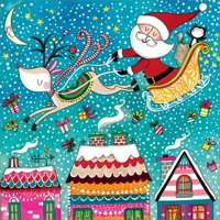 """Over the Rooftops """"jigsaw"""" Christmas Card (Other)"""