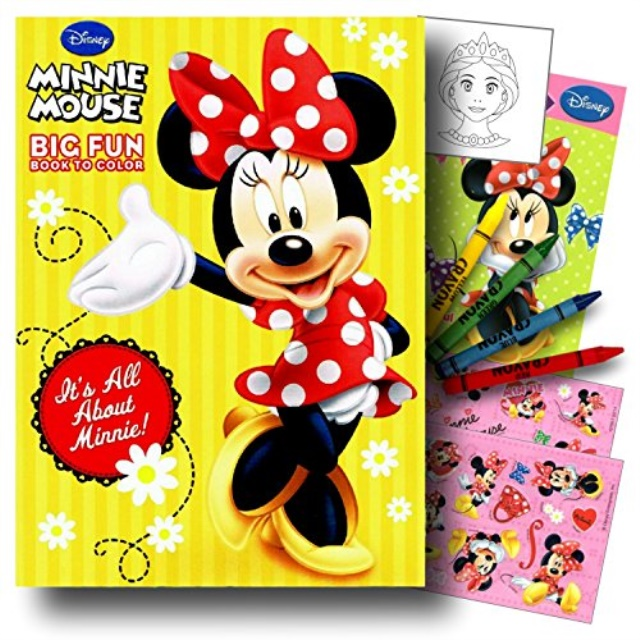 Minnie Mouse Coloring Book Pack With Stickers, Crayons And Coloring  Activity Book Bundled With 1 Separately Licensed GWW Coloring Fun Reward  Sticker - Walmart.com - Walmart.com