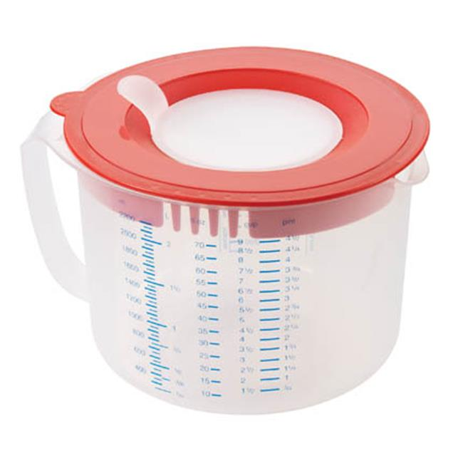 3 In 1 Measuring Cups White Red Lid 2.2 L