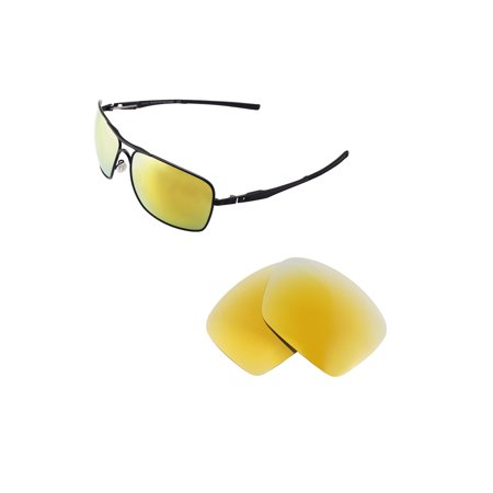 a54144a264 Walleva - Walleva 24K Gold Polarized Replacement Lenses for Oakley Plaintiff  Squared Sunglasses - Walmart.com