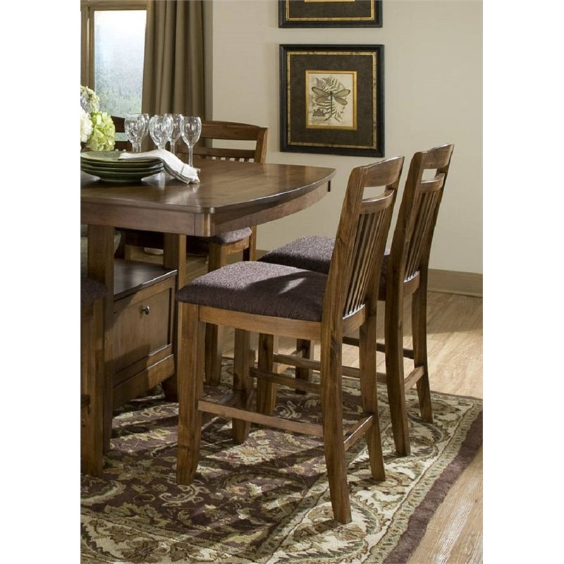 Homelegance Trent Home Marcel Counter Stool in Warm Oak (...