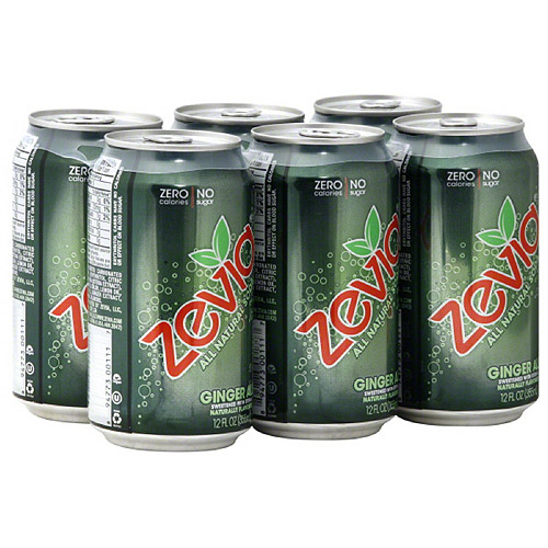 Zevia Ginger Ale, 6 count, (Pack of 4)