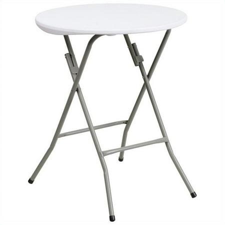 Scranton & Co 24 Inch Round Granite Folding Table in White - image 3 of 3