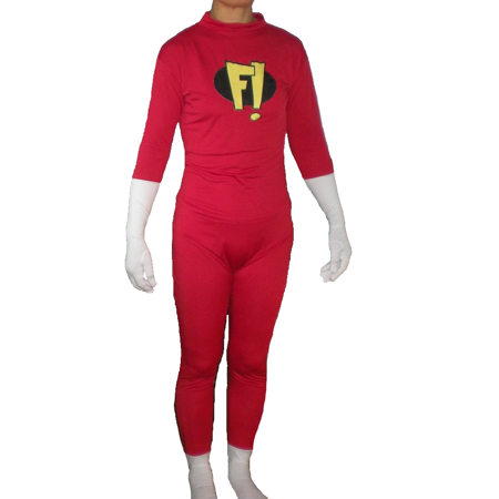 Freakazoid Adult Costume Body Suit Spandex F! Dexter Superhero Freakazoid! - Superhero Costumes Adults
