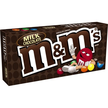 (4 Pack) M&M's, Milk Chocolate Candy Movie Theater, 3.1 Oz - Mint M&ms