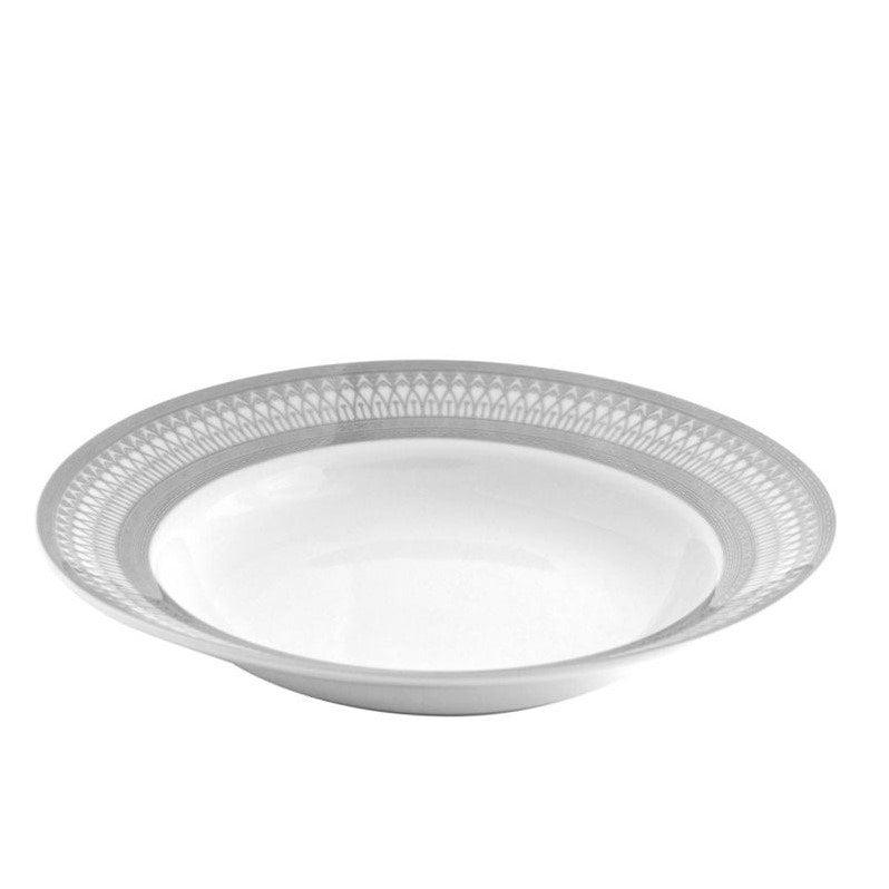 10 Strawberry Street Iriana Rim Soup Bowl in Silver (Set of 6) by 10 Strawberry Street