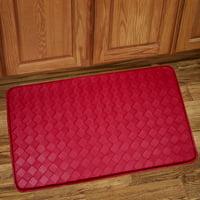 Memory Foam Anti Fatigue Kitchen Floor Mat Rug 30 x 18 - Diamond Red