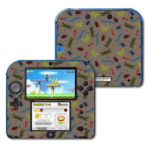 Mightyskins Protective Vinyl Skin Decal Cover for Nintendo 2DS wrap sticker skins Creepy Crawly