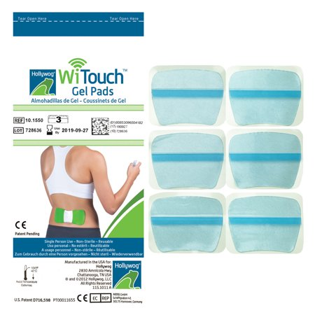Core 3 Pair Pack - Witouch Gel Pad Refills - 1 Pack of 6 Pads (3 Pairs of Gel Pads)