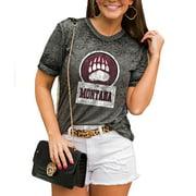 Montana Grizzlies Women's Better Than Basic Boyfriend T-Shirt - Charcoal
