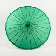 "Quasimoon 32"" Dark Green Parasol Umbrella, Premium Nylon by PaperLanternStore"