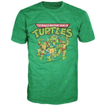 Teenage Mutant Ninja Turtles - TMNT Group Apparel T-Shirt - Green - Plus Size Ninja Turtle Shirt