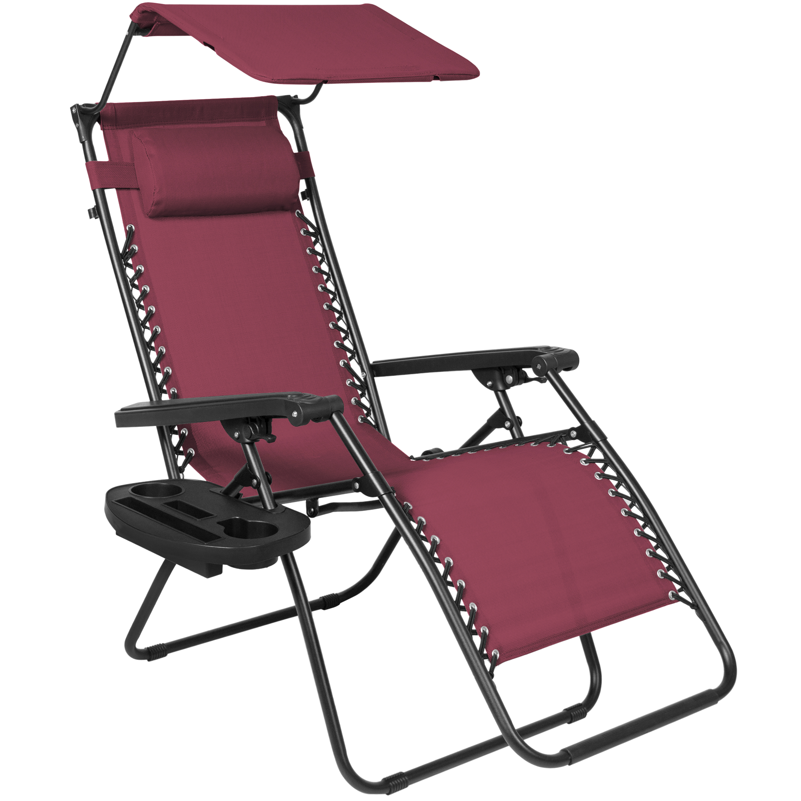 Best Choice Products Folding Zero Gravity Recliner Lounge Chair W/ Canopy  Shade U0026 Magazine Cup