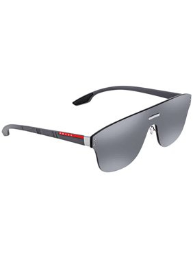 59e9bb2ca4 Product Image Prada Linea Rossa Grey Mirror Silver Rectangular Mens Sunglasses  PR PS57TS 7W17W1 43