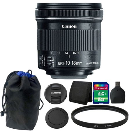 Canon EF-S 10-18mm f/4.5-5.6 IS STM Lens 8GB Accessory Kit for DSLR
