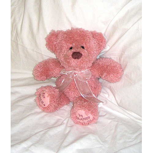 Huggables Pink Teddy Stuffed Toy Latch Hook Kit-14 Inch Tall