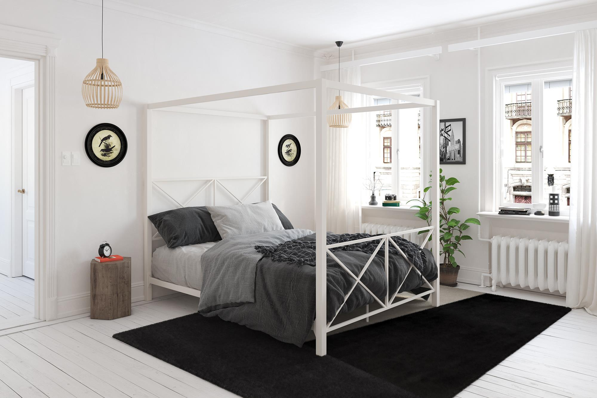 Dhp rosedale metal canopy bed multiple sizes multiple colors