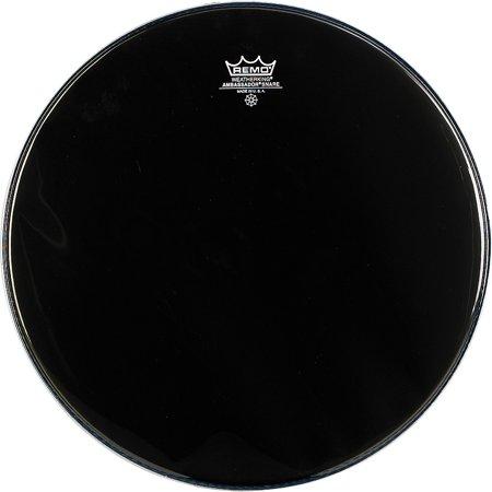 Remo Ambassador Snare Drum Head No Collar 14 in. Ebony Ebony Ambassador Bass Head