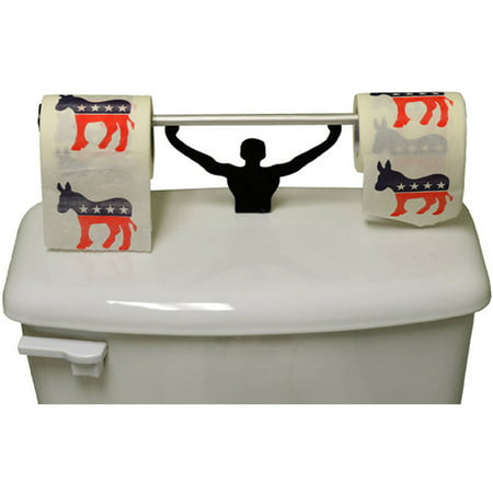 Fairly Odd Novelties Democrats Toilet Paper with Strong Man Holder Novelty Gag Gift Set