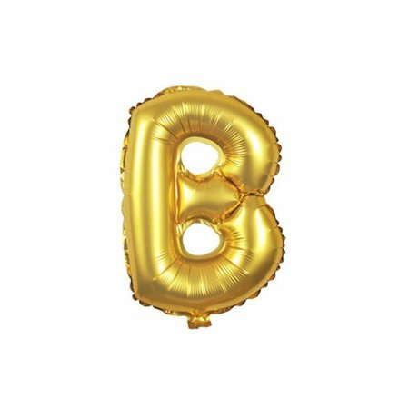 Gold Foil Balloon Number B Inflated Float Helium Balloon 16 inch Kids Fun Toys - Big Helium Balloons
