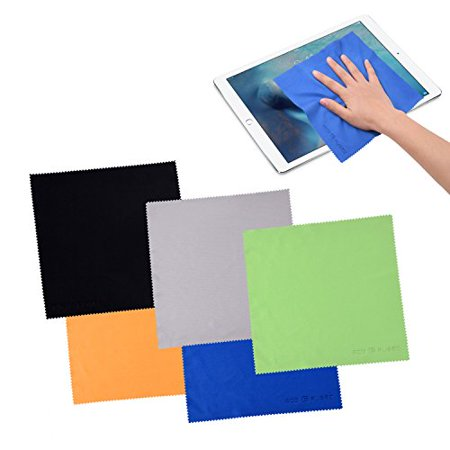 Large Microfiber Cleaning Cloths.For Cell Phones, Laptops, Tablets, Glasses, Spectacles, and Delicate Surfaces - 8X8inch (Large Spectacles)