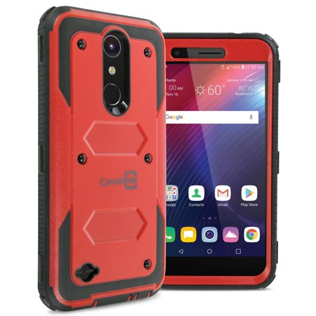 CoverON LG Harmony 2 / Phoenix Plus / Premier Pro / K10 2018 / K10 Plus / K10α / K30 / K10 Alpha Case, Tank Series Hard Protective Armor Phone