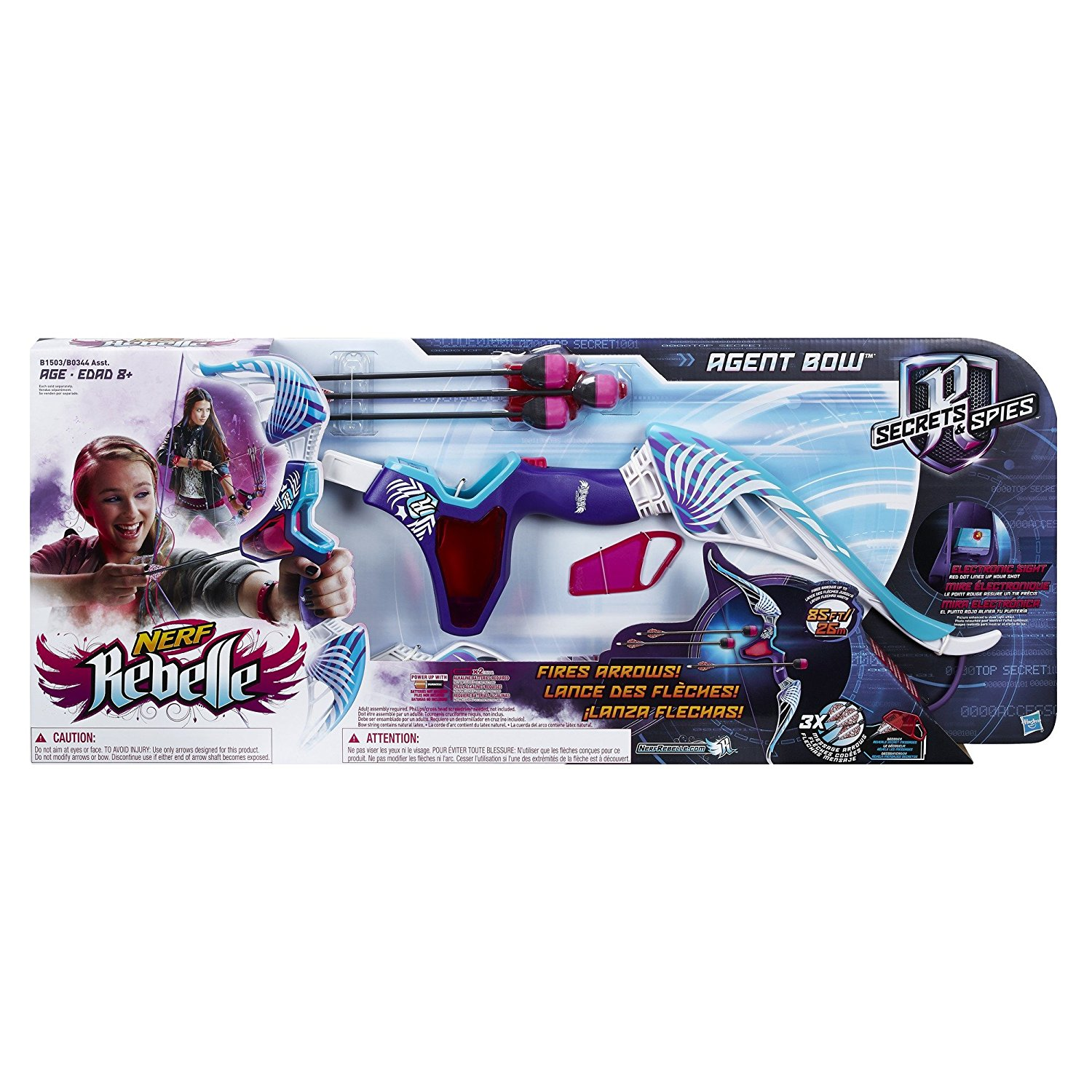 Nerf Rebelle Agent Bow Purple and Teal by Hasbro