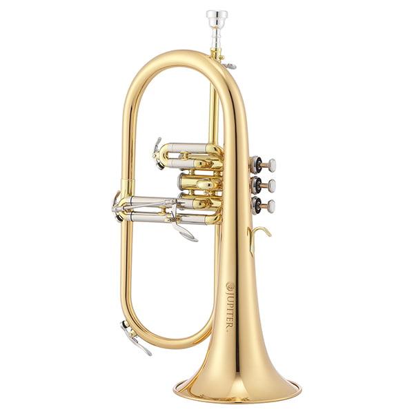 Jupiter Intermediate Bb Flugelhorn with Rose Brass Bell, JFH1100R
